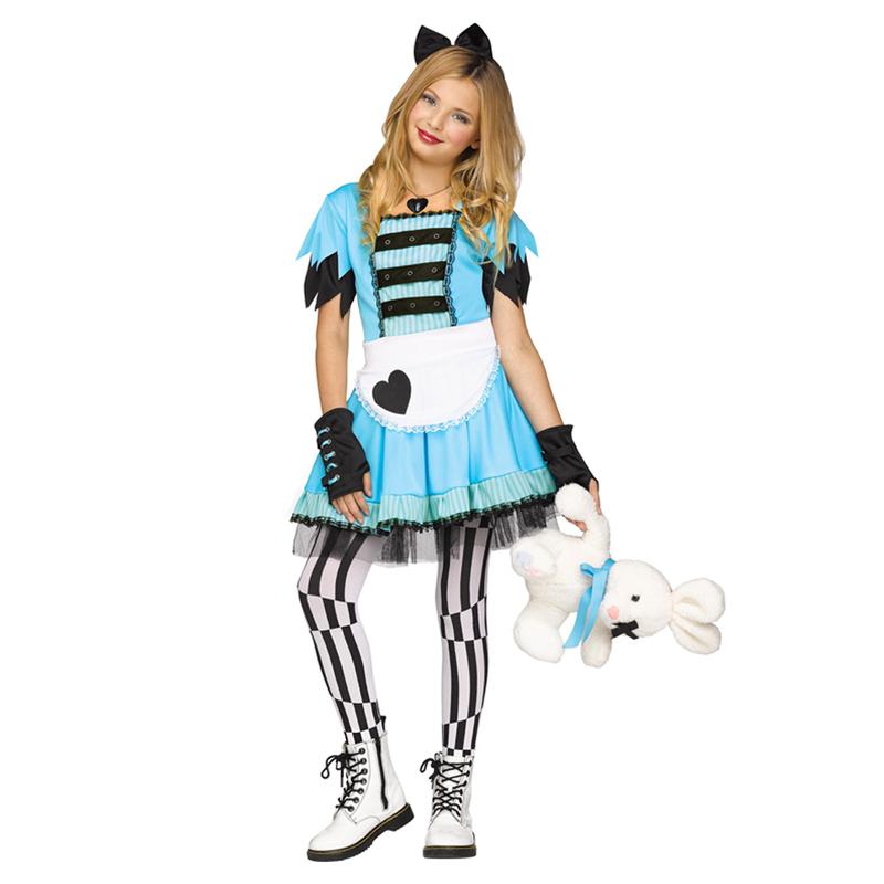 fe6d66515ed9a 切りっぱなしの袖口やグローブがロックな雰囲気のアリス風コスチュームです。リボンやレースでキュートさもプラス!パーティーやイベントでの仮装、コスプレ にどうぞ!